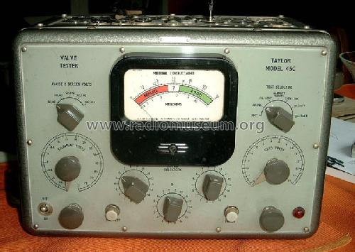 Valve-tester 45C; Taylor Electrical (ID = 93844) Equipment