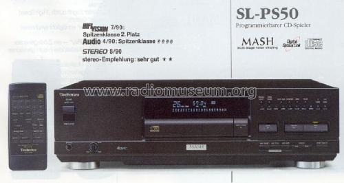Compact Disc Player SL-PS50; Technics brand (ID = 670292) R-Player