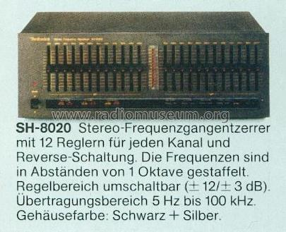 Stereo Frequency Equalizer SH-8020; Technics brand (ID = 663243) Ampl/Mixer