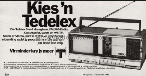 TV FM/AM Radio Cassette VR50; Tedelex, (ID = 1761507) TV-Radio