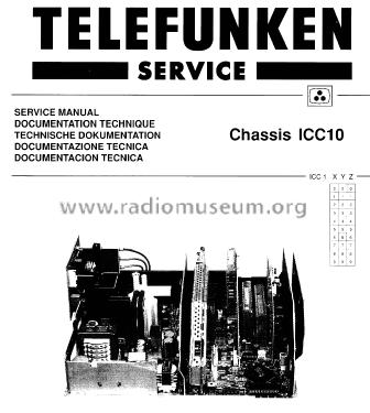 Color TV Chassis Ch= ICC10 Television Telefunken Deutschland
