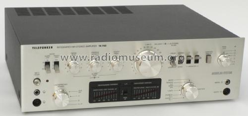 Integrated HiFi Stereo Amplifier TA-750; Telefunken (ID = 1766936) Ampl/Mixer