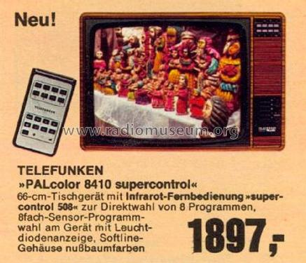PALcolor 8410 supercontrol; Telefunken (ID = 1762838) Television
