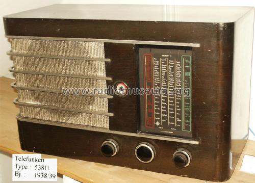 Gross-Super 538U ; Telefunken; Wien (ID = 1014955) Radio