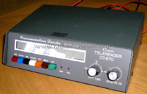 Communications Decoder CD-670; Telereader (ID = 110268) Amateur-D