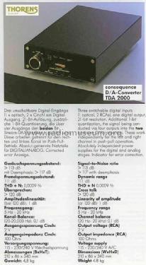 digital analog wandler tda2000 misc thorens sa st croix b. Black Bedroom Furniture Sets. Home Design Ideas