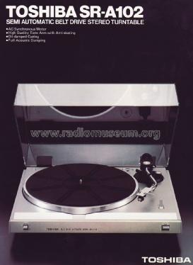 Belt Drive Automatic Stereo Turntable SR-A102; Toshiba Corporation; (ID = 1642050) R-Player
