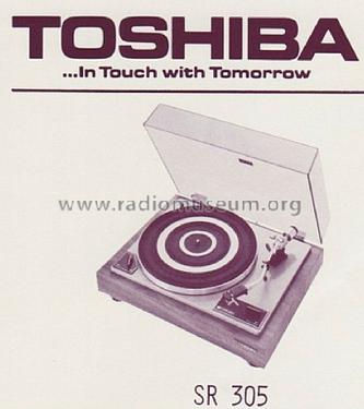 Belt Drive Stereo Turntable SR-305; Toshiba Corporation; (ID = 1531357) R-Player