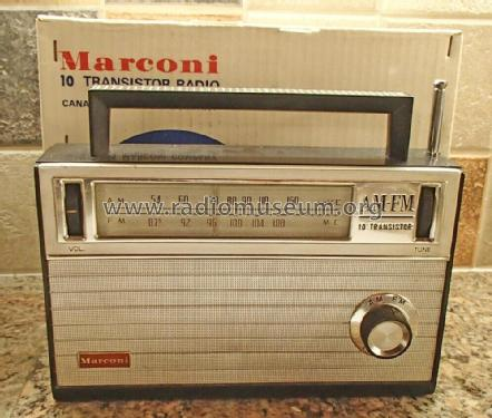 AM-FM 10 Transistor Marconi 2108; Toshiba Corporation; (ID = 2422755) Radio
