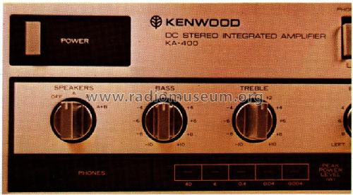 DC Stereo Integrated Amplifier KA-400; Trio-Kenwood (ID = 956464) Ampl/Mixer
