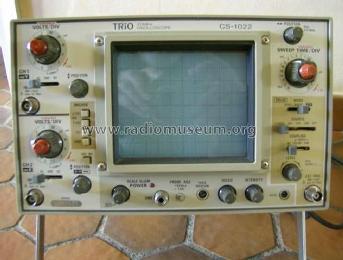 Dual Trace Oscilloscope CS-1022; Trio-Kenwood (ID = 1638201) Equipment