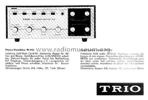 hifi stereo amplifier w mixer trio