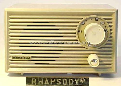 Rhapsody 5-Tube Table Radio ; Unknown - CUSTOM (ID = 662760) Radio