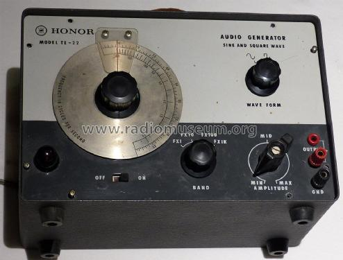 Honor Audio Generator TE-22; Unknown Europe (ID = 2292173) Equipment