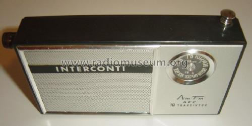 Interconti - AM-FM AFC - 10 Transistor SF-2006; Unknown Worldwide (ID = 1719377) Radio