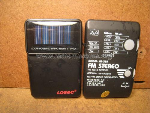 Losec AM FM Stereo Solar Radio AS 338 Unknown Worldwide ID 2073082