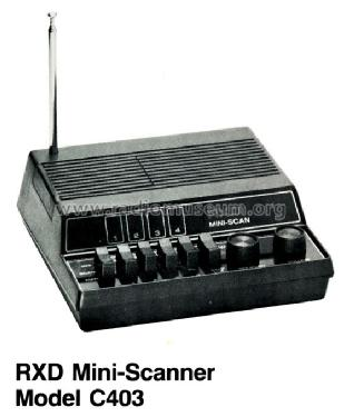 RXD Mini Scan C403; Unknown Worldwide (ID = 1191757) Amateur-R