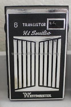 Westminster - 6 Transistor - Hi Sensitive SV-601; Unknown Worldwide (ID = 1820417) Radio