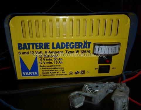 batterie ladeger t 6 und 12 volt 6 power s varta accumula. Black Bedroom Furniture Sets. Home Design Ideas