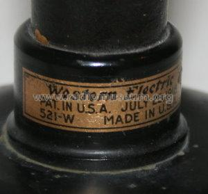 521 W Loud Speaker; Western Electric (ID = 913220) Parleur