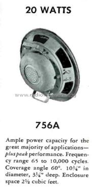 756A; Western Electric (ID = 1792270) Speaker-P