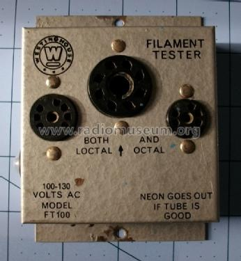 Filament Tester FT100; Westinghouse El. & (ID = 1605451) Equipment
