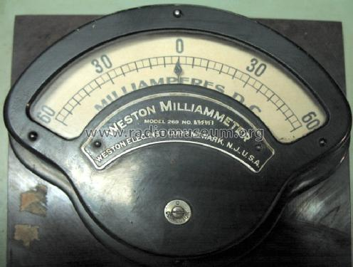 Milliammeter 269; Weston Electrical (ID = 646261) Equipment