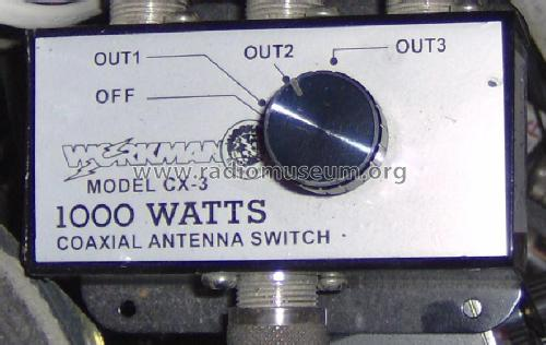 Coaxial Antenna Switch CX-3; Workman Electronic (ID = 951118) Amateur-D