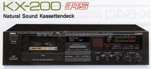 Natural Sound Stereo Cassette Deck KX-200; Yamaha Co.; (ID = 962401) R-Player