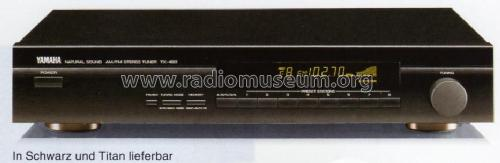 Natural Sound AM/FM Stereo Tuner TX-480; Yamaha Co.; (ID = 1083020) Radio