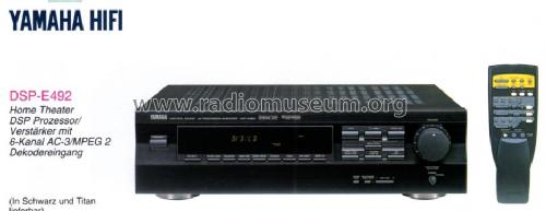 Natural Sound AV Processor/Amplifier DSP-E492; Yamaha Co.; (ID = 1177215) Ampl/Mixer