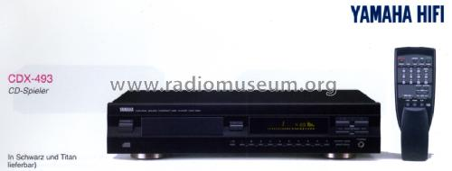 Natural Sound Compact Disc Player CDX-493; Yamaha Co.; (ID = 1179032) R-Player