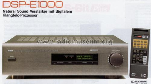 Natural Sound Digital Sound Field Processor/Amplif DSP-E1000; Yamaha Co.; (ID = 1068677) Ampl/Mixer