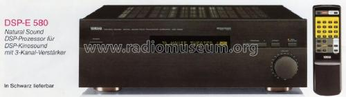 Natural Sound Digital Sound Field Processing Ampli DSP-E580; Yamaha Co.; (ID = 1089747) Ampl/Mixer