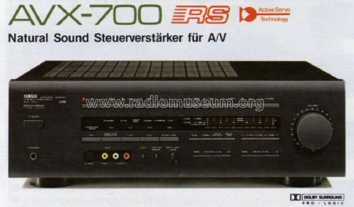 Natural Sound Stereo Amplifier AVX-700; Yamaha Co.; (ID = 1052312) Ampl/Mixer