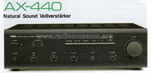 Natural Sound Stereo Amplifier Ax 440 Ampl Mixer Yamaha Co