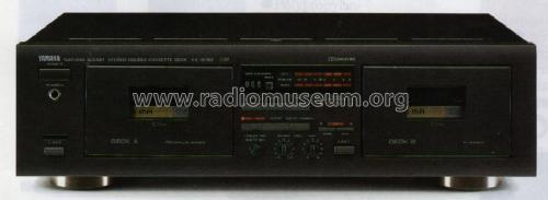 Natural Sound Stereo Double Cassette Deck KX-W162; Yamaha Co.; (ID = 1075145) R-Player