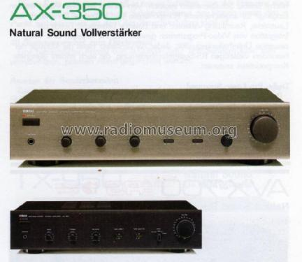 Natural Sound Stereo Integrated Amplifier AX-350; Yamaha Co.; (ID = 1060361) Ampl/Mixer