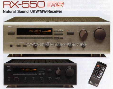 Natural Sound UKW/MW Stereo Receiver RX-550; Yamaha Co.; (ID = 1063469) Radio