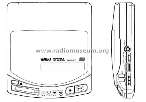 Portable CD Player CDX-P7; Yamaha Co.; (ID = 1111984) R-Player