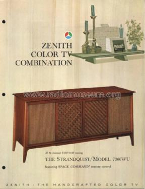7300WU The Strandquist ; Zenith Radio Corp.; (ID = 976205) TV Radio