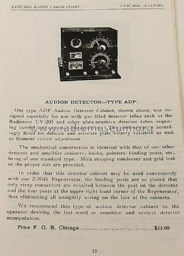 Z-Nith Audion Detector ADP ; Zenith Radio Corp.; (ID = 1177900) mod-pre26