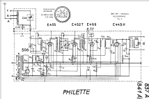 Philette Super inductance 837A; Philips - Schweiz (ID = 19317) Radio