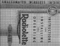 Radiolette 29; Amalgamated Wireless (ID = 1879982) Radio