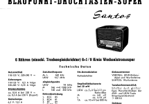Santos 2212; Blaupunkt Ideal, (ID = 84495) Radio