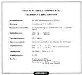 Drucktasten-Autosuper AS53; Grundig Radio- (ID = 1558955) Car Radio