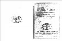 Superhet 1239; Tefag; Telephon (ID = 518907) Radio