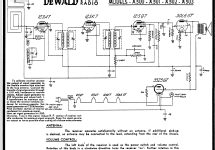 A-502 ; DeWald Radio Mfg. (ID = 93702) Radio
