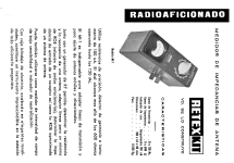Medidor de impedancias de antena MI-1; Retex S.A.; (ID = 1535552) Equipment