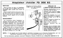 Adaptateur Chalutier FD 000 83; Philips France; (ID = 1841957) mod-past25